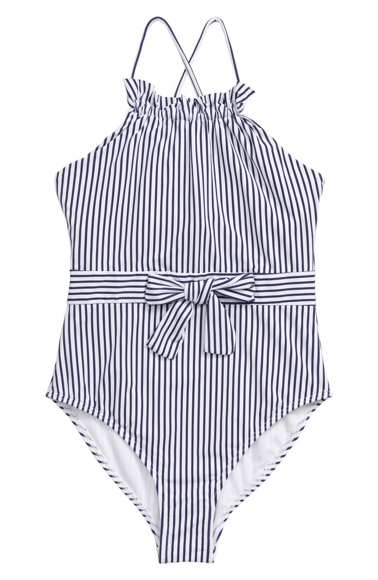 HABITUAL GIRL Habitual One-Piece Swimsuit, Main, color, STRIPE