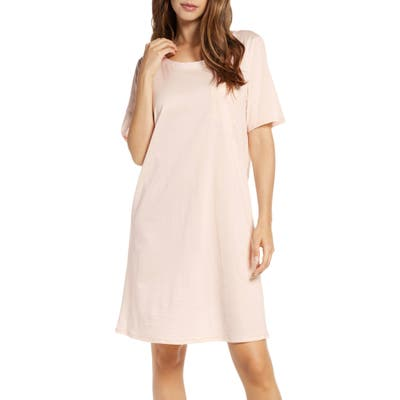 Hanro Cotton Nightshirt, Pink