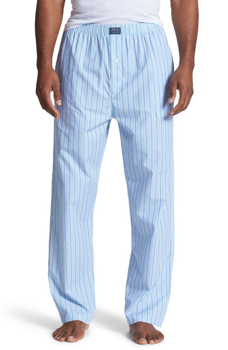 POLO RALPH LAUREN Cotton Pajama Pants, Main, color, 400