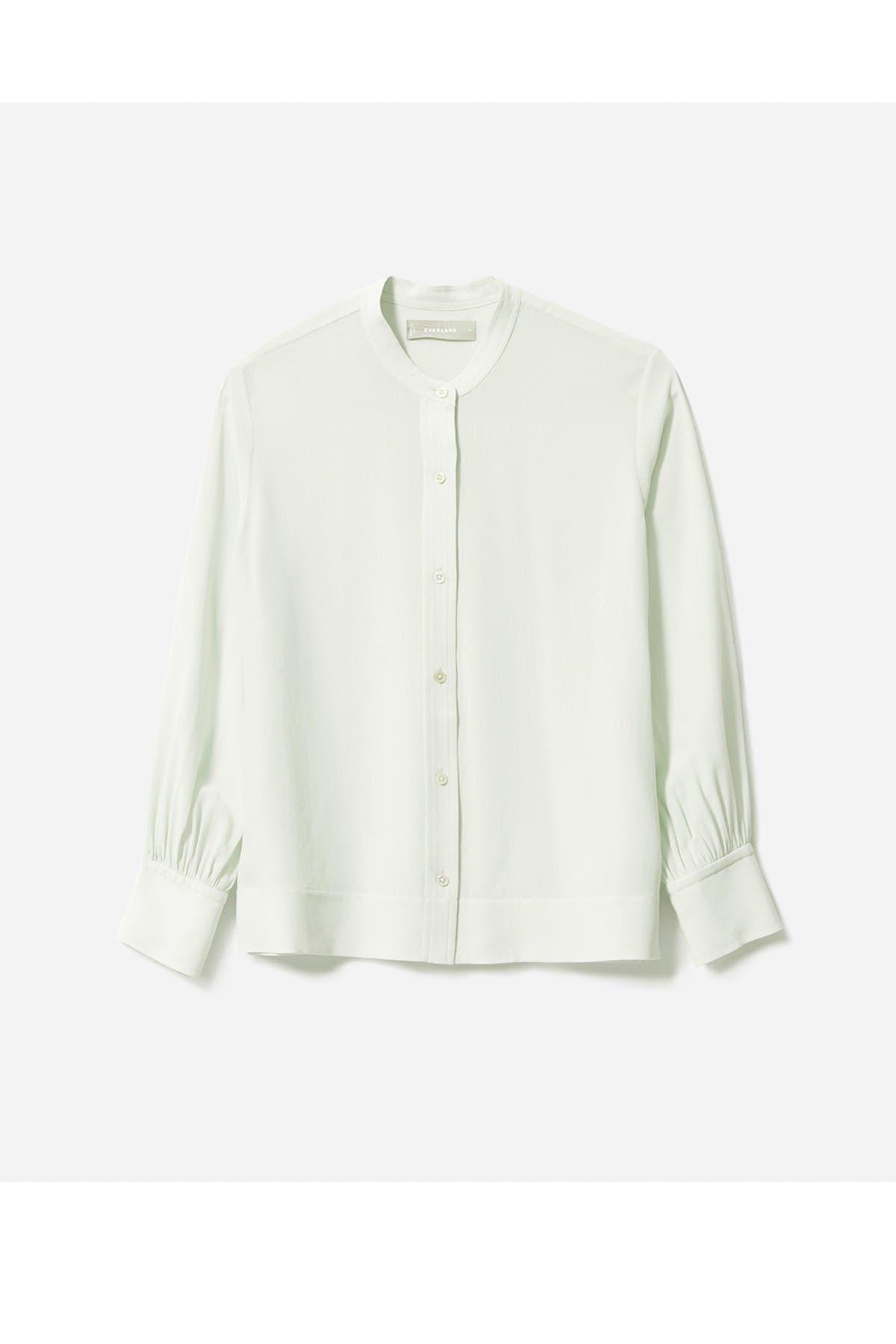 Image of EVERLANE The Clean Silk Blouson Shirt