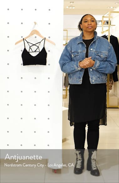 Maya Strappy Ribbed Bralette, sales video thumbnail
