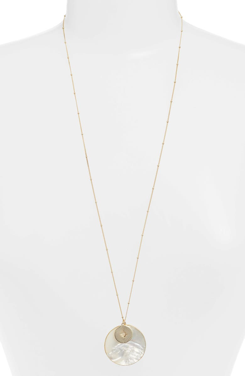 ARGENTO VIVO Mother-of-Pearl Pendant Necklace, Main, color, 100