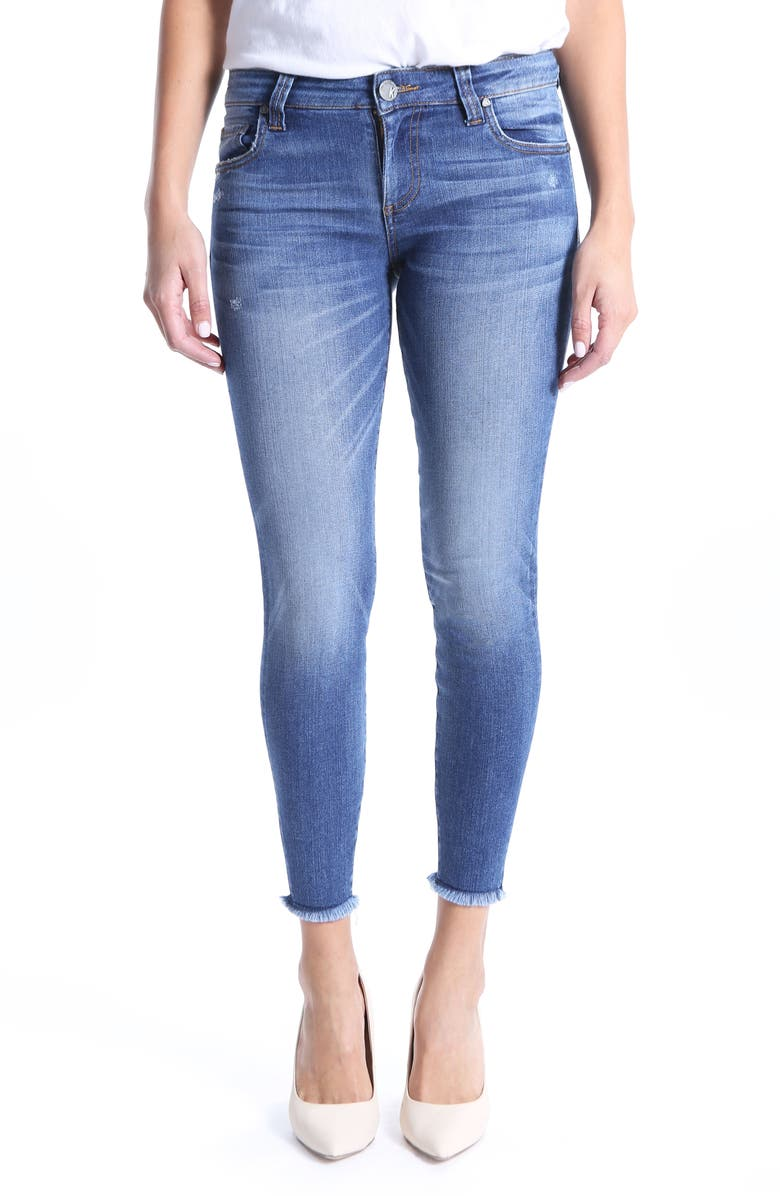 KUT FROM THE KLOTH Connie Fray Hem Ankle Skinny Jeans, Main, color, GUILELESS