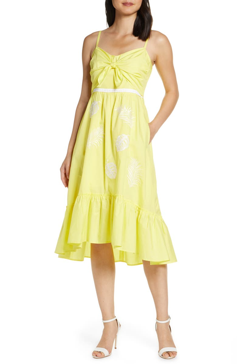 LILLY PULITZER<SUP>®</SUP> Eloisa High/Low Midi Sundress, Main, color, WATCH HILL YELLOW FIESTA