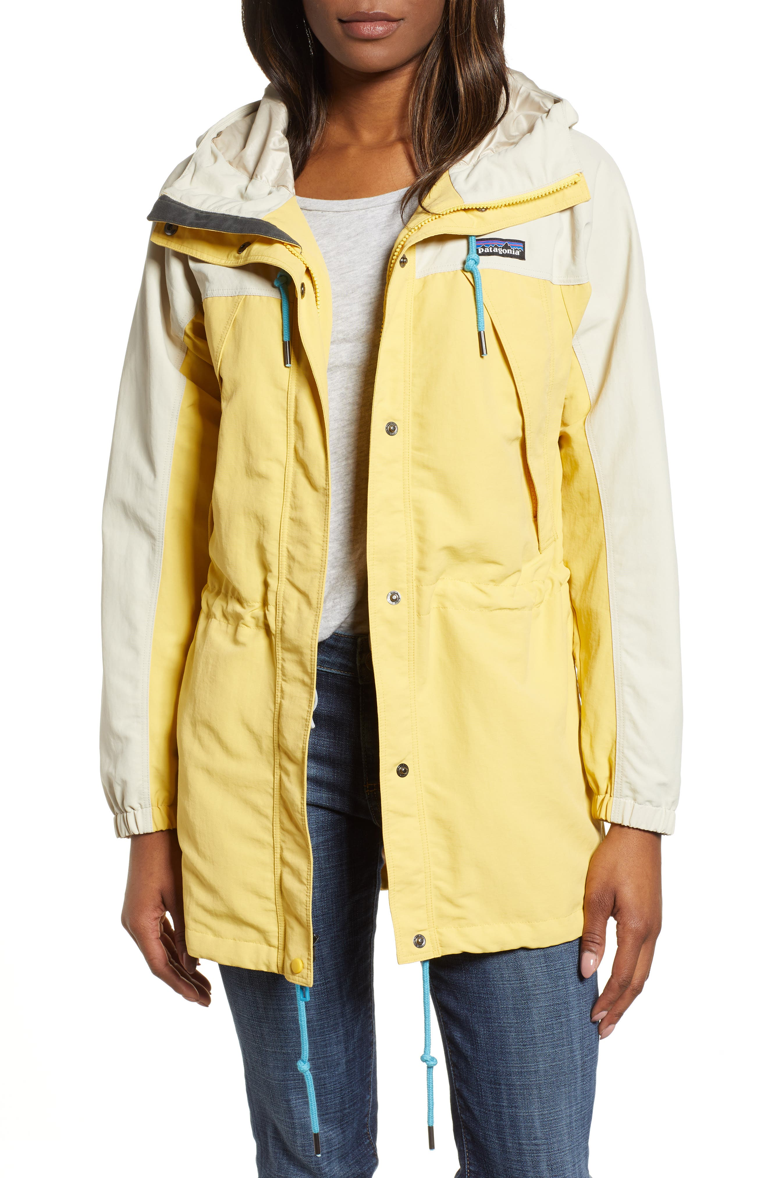 Patagonia Skyforest Water Repellent Hooded Jacket, Yellow