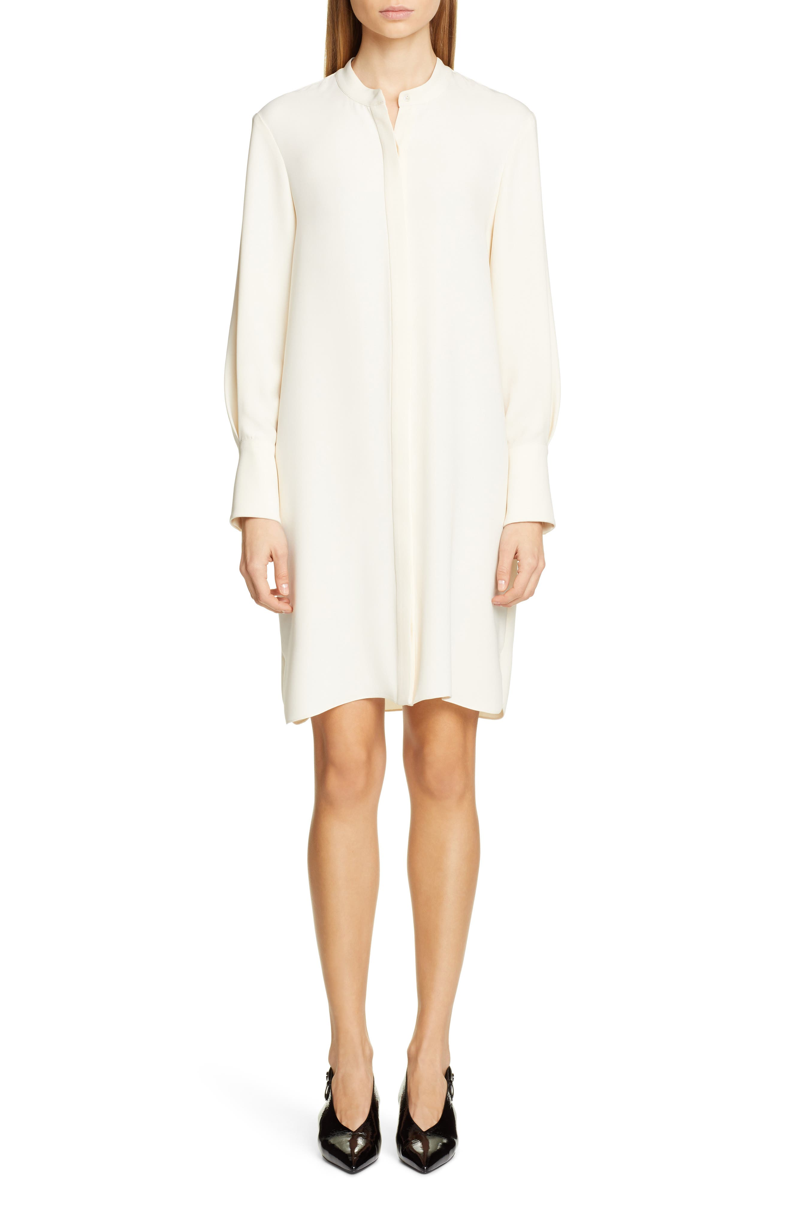 Partow Roz Long Sleeve Dress, Ivory