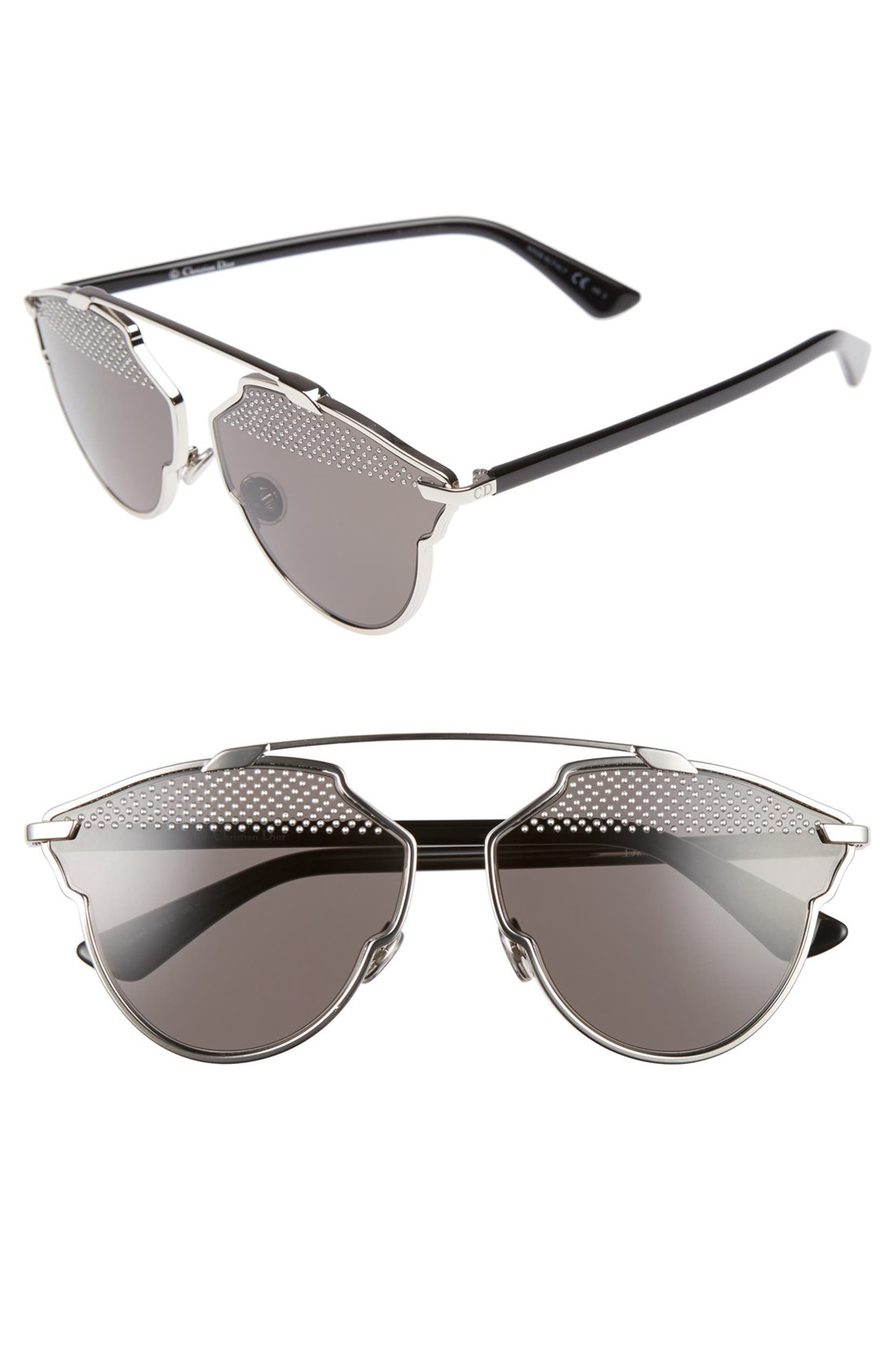 392566338ae52 Dior So Real Studded 59mm Brow Bar Sunglasses