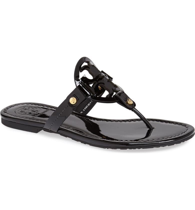 TORY BURCH Miller Flip Flop, Main, color, BLACK PATENT