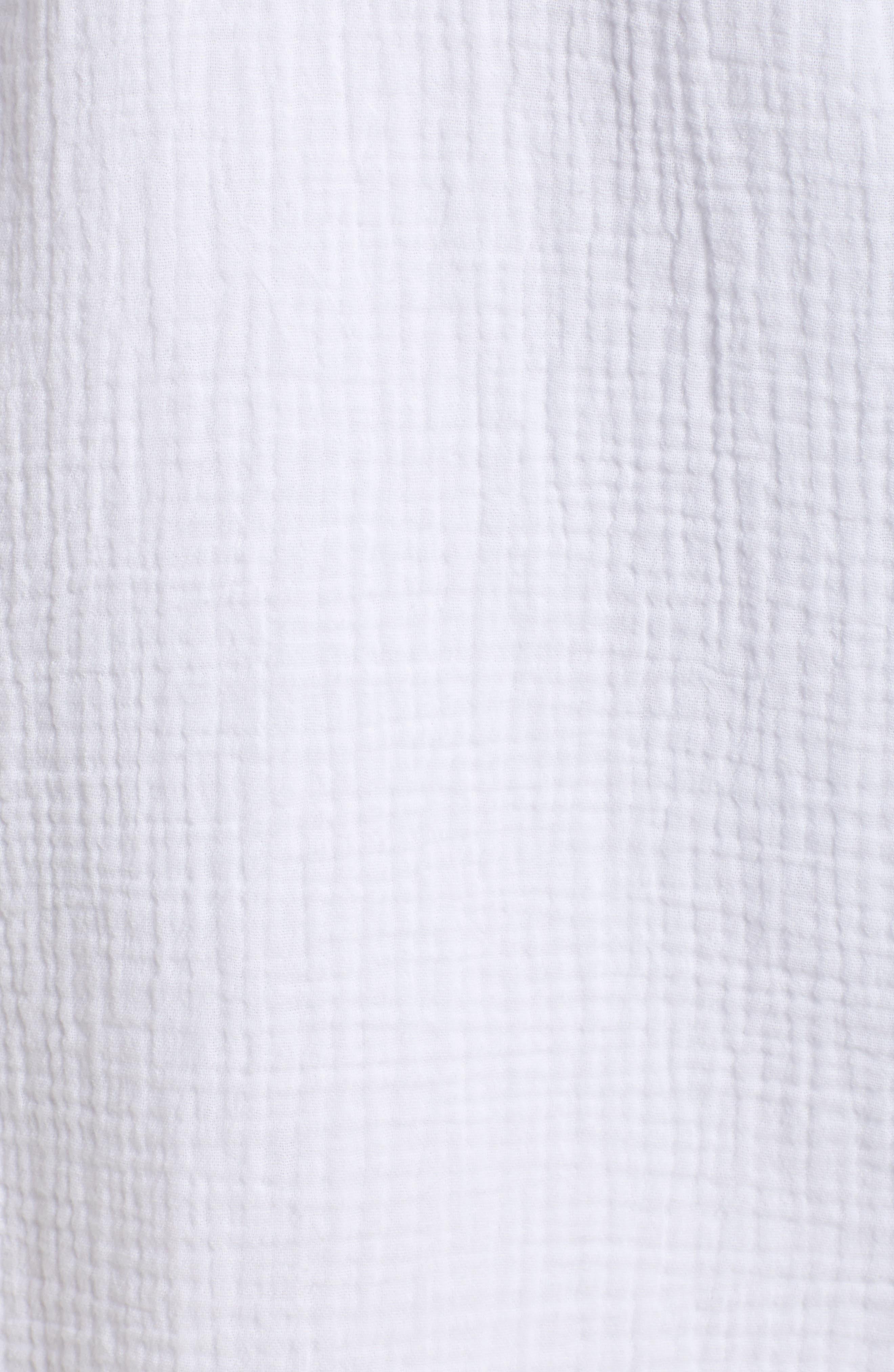 ,                             Asymmetrical Button Down Shirtdress,                             Alternate thumbnail 5, color,                             145 ULTRA WHITE