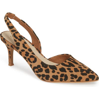 Seychelles Ornament Slingback Pump, Brown