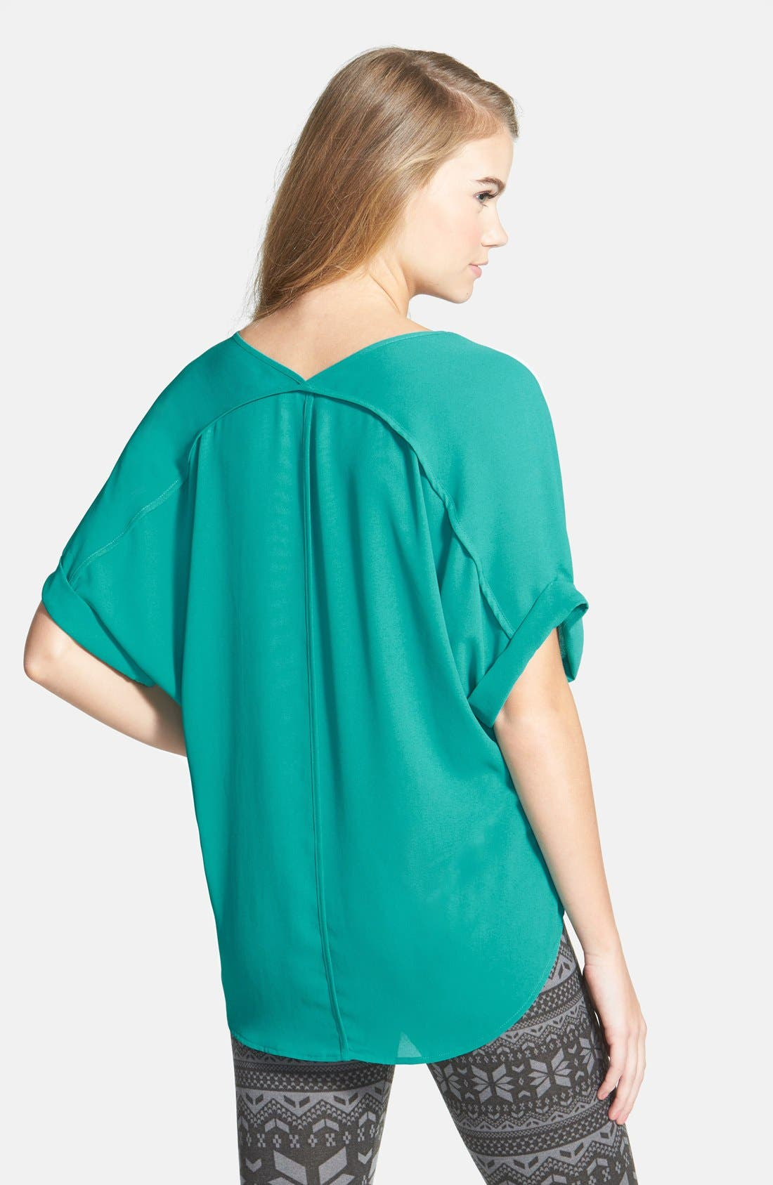 ,                             Lush Cuff Sleeve Woven Tee,                             Alternate thumbnail 51, color,                             304