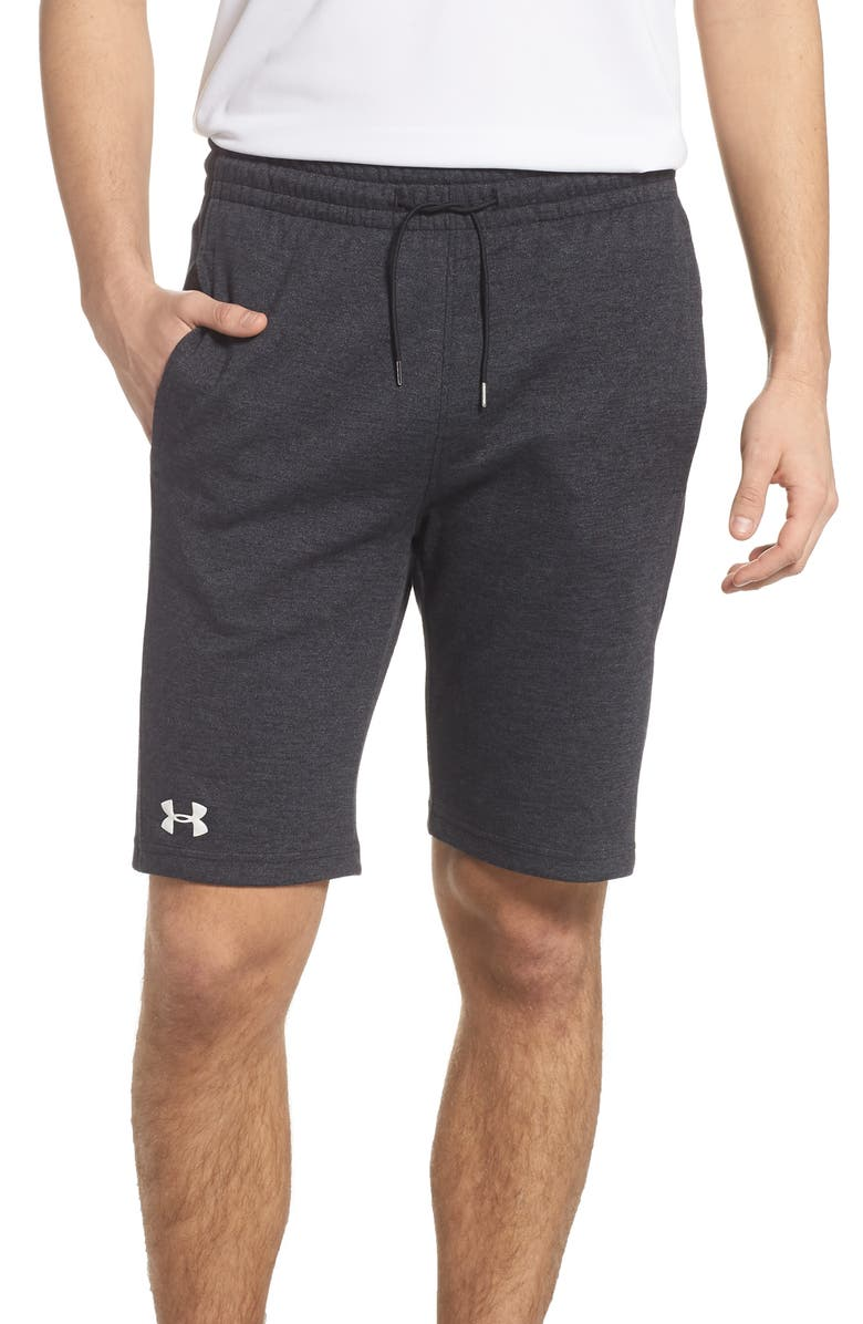 UNDER ARMOUR Double Knit Athletic Shorts, Main, color, 001
