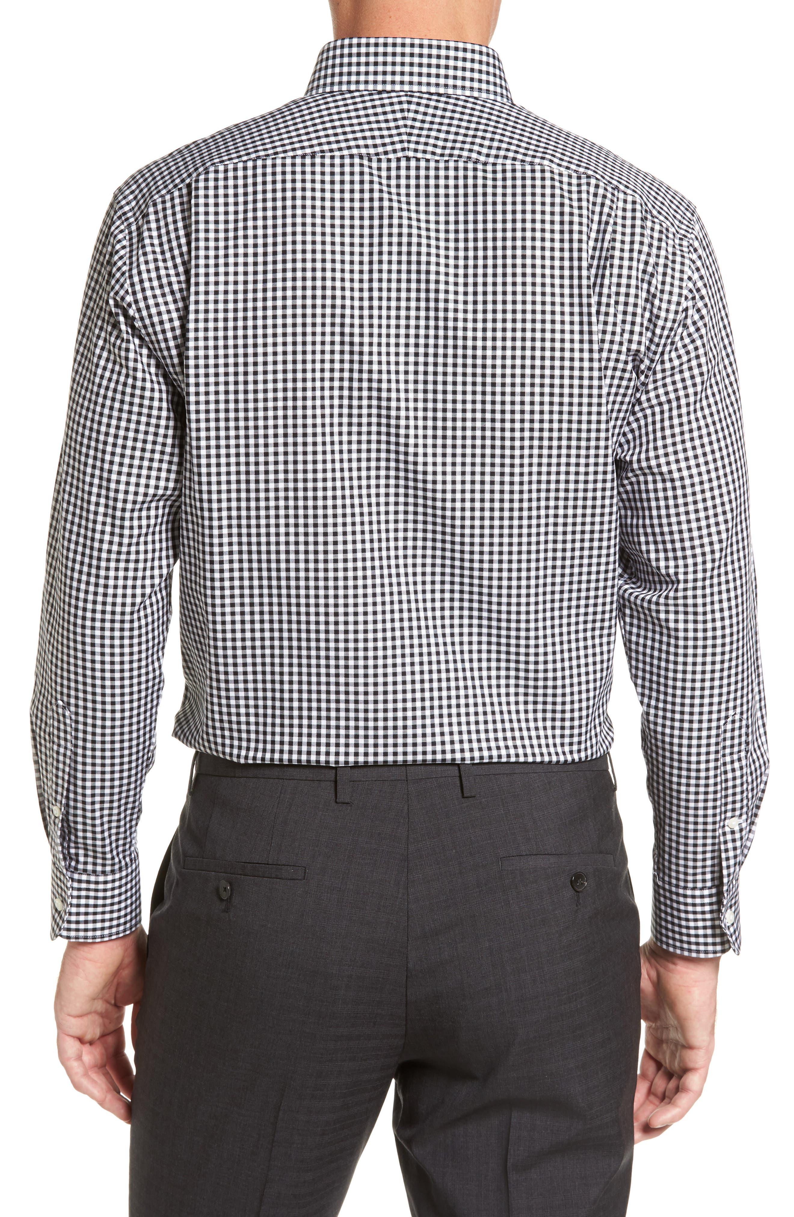 ,                             Traditional Fit Non-Iron Gingham Dress Shirt,                             Alternate thumbnail 2, color,                             BLACK ROCK