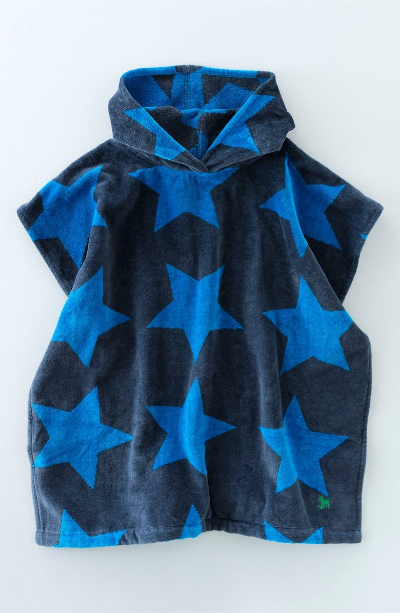 Mini Boden 'Towelling' Hooded Beach Poncho (Toddler Boys & Little