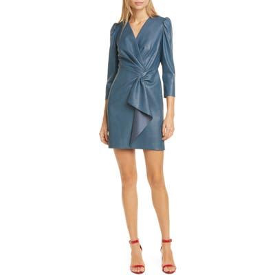 Rebecca Taylor Faux Leather Dress, Blue