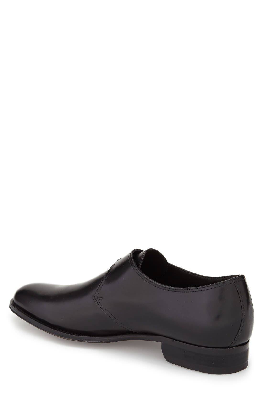 ,                             Emmett Monk Strap Shoe,                             Alternate thumbnail 2, color,                             BLACK LEATHER