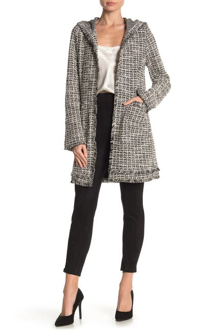 Image of Laundry By Shelli Segal Hooded Boucle Jacket