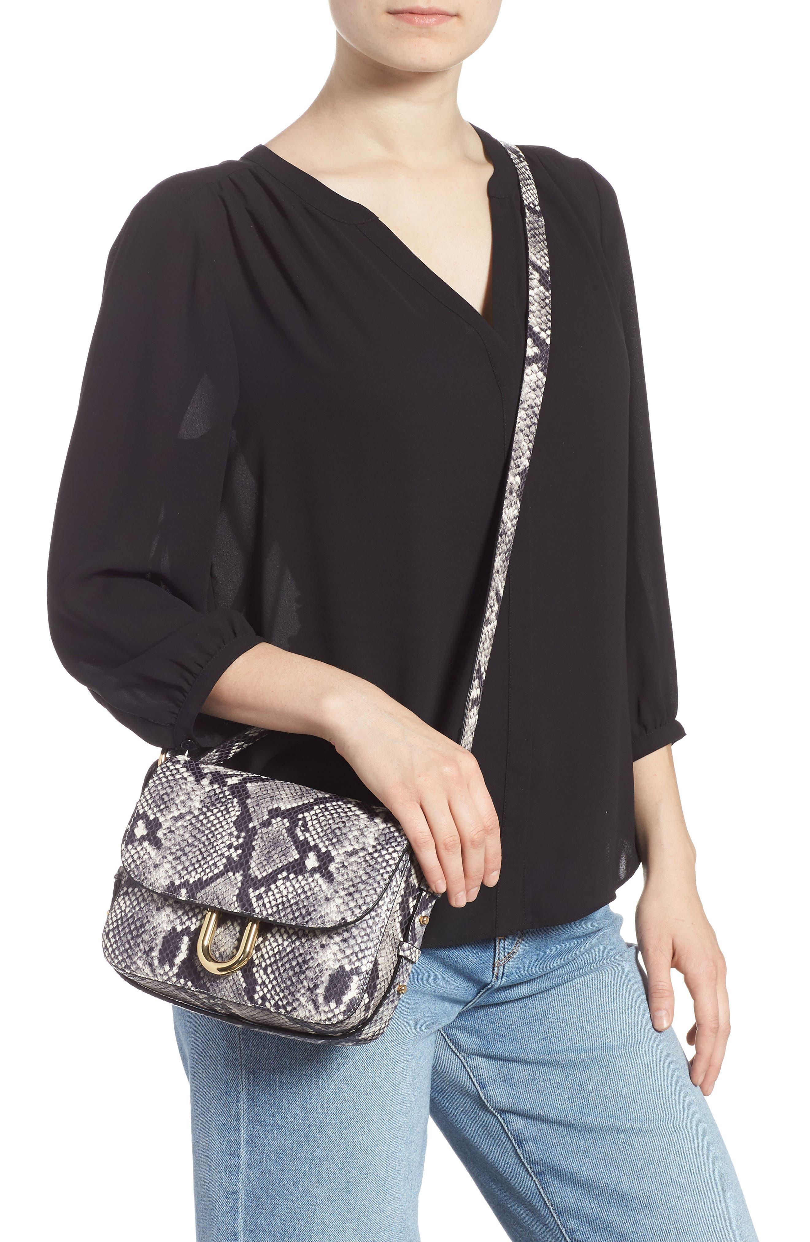 ,                             Harper Snake Embossed Leather Crossbody Bag,                             Alternate thumbnail 2, color,                             020