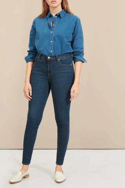 Image of EVERLANE The Authentic Stretch Mid-Rise Skinny Jeans