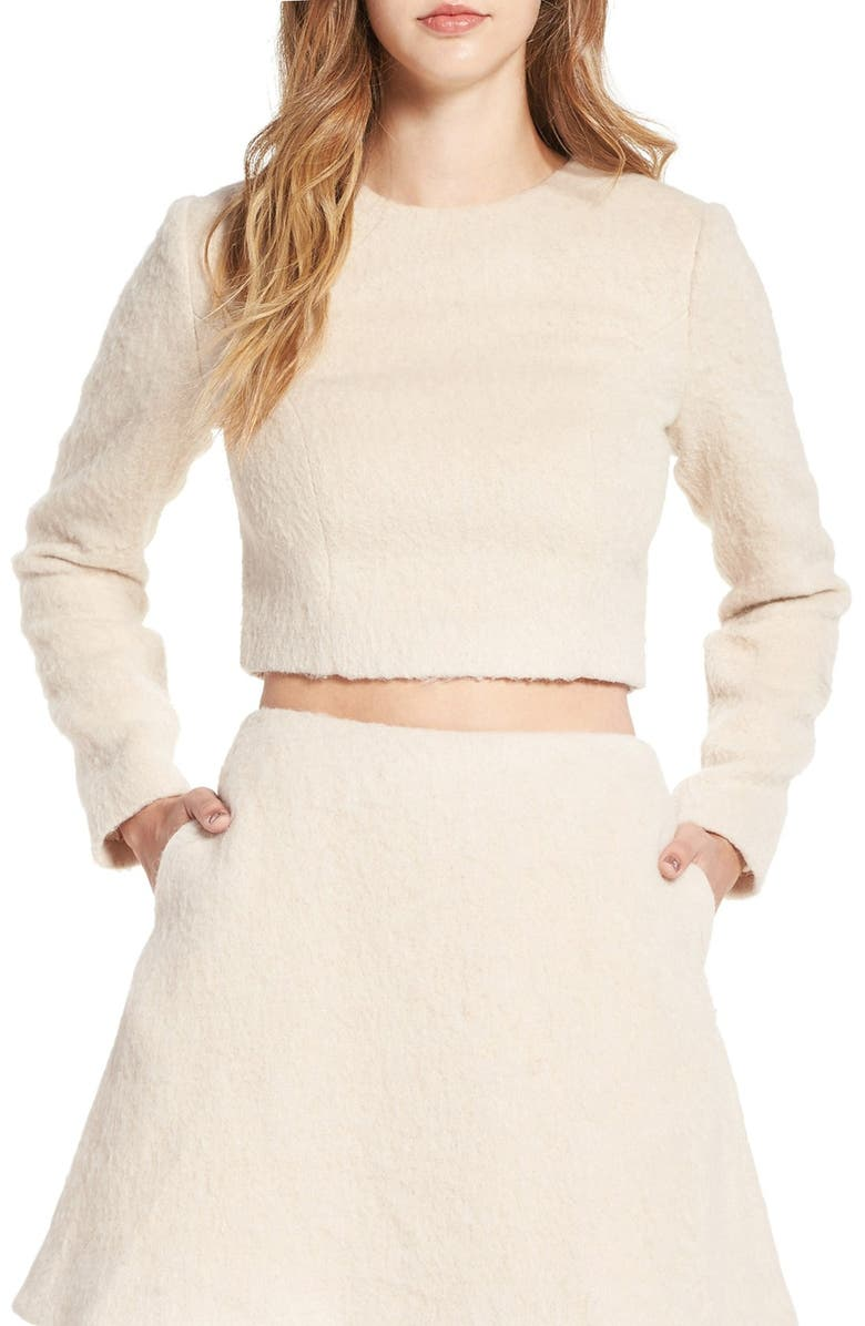 KEEPSAKE THE LABEL 'Searchlight' Long Sleeve Crop Top, Main, color, 900