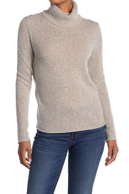 Image of 360 Cashmere Meghan Wool & Cashmere Blend Turtleneck Sweater
