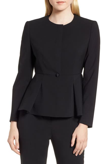 Image of BOSS Jolanna Tropical Stretch Wool Jacket