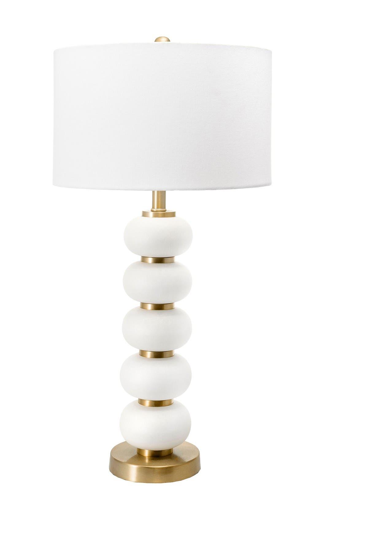 """Image of nuLOOM Ivory Hazel 29"""" Iron Table Lamp"""