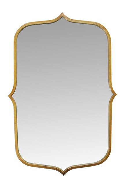 """Image of Stratton Home 36"""" Hillary Gold Metal Mirror"""