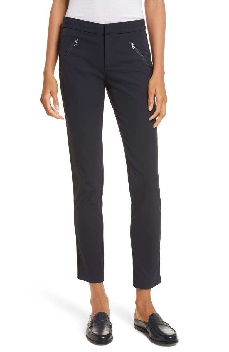 REBECCA TAYLOR 'Ava' Techy Pants, Main, color, NAVY