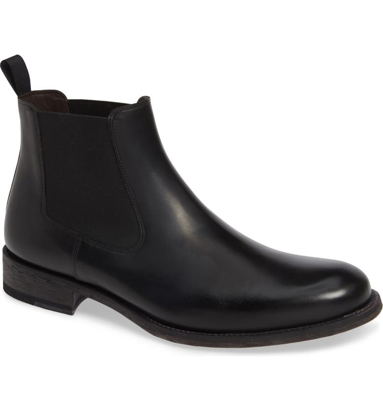 MAGNANNI Saburo Water Resistant Chelsea Boot, Main, color, BLACK LEATHER