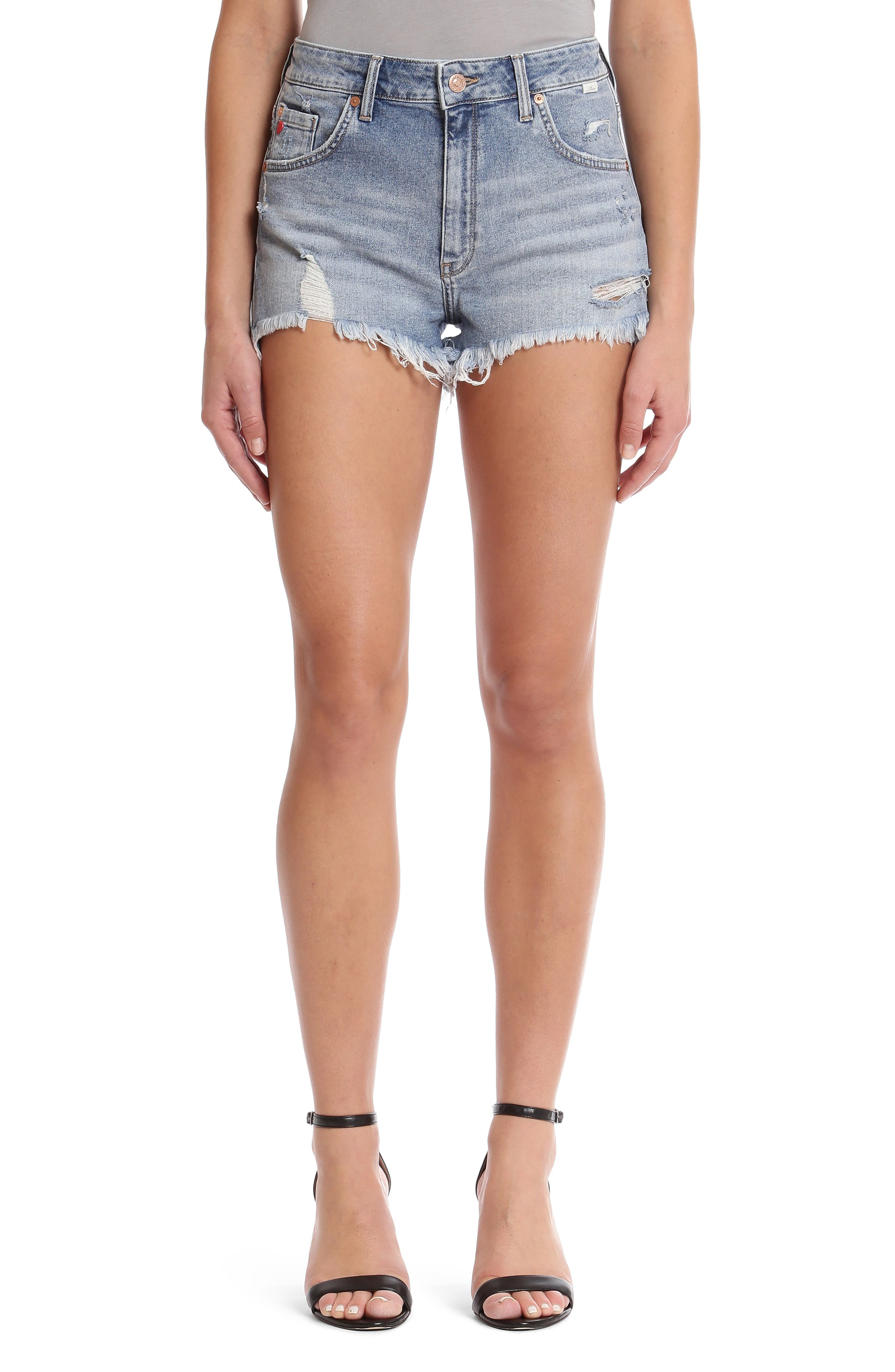 Rosie Retro 80S Cutoff Denim Shorts