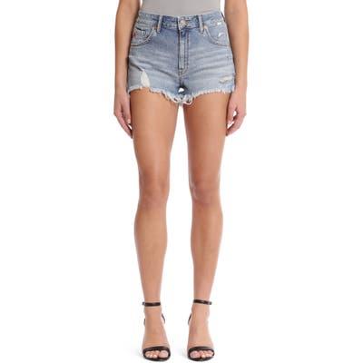 Mavi Jeans Rosie Retro 80S Cutoff Denim Shorts, Blue