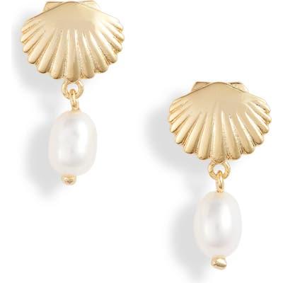 Gorjana Seashell Charm Earrings