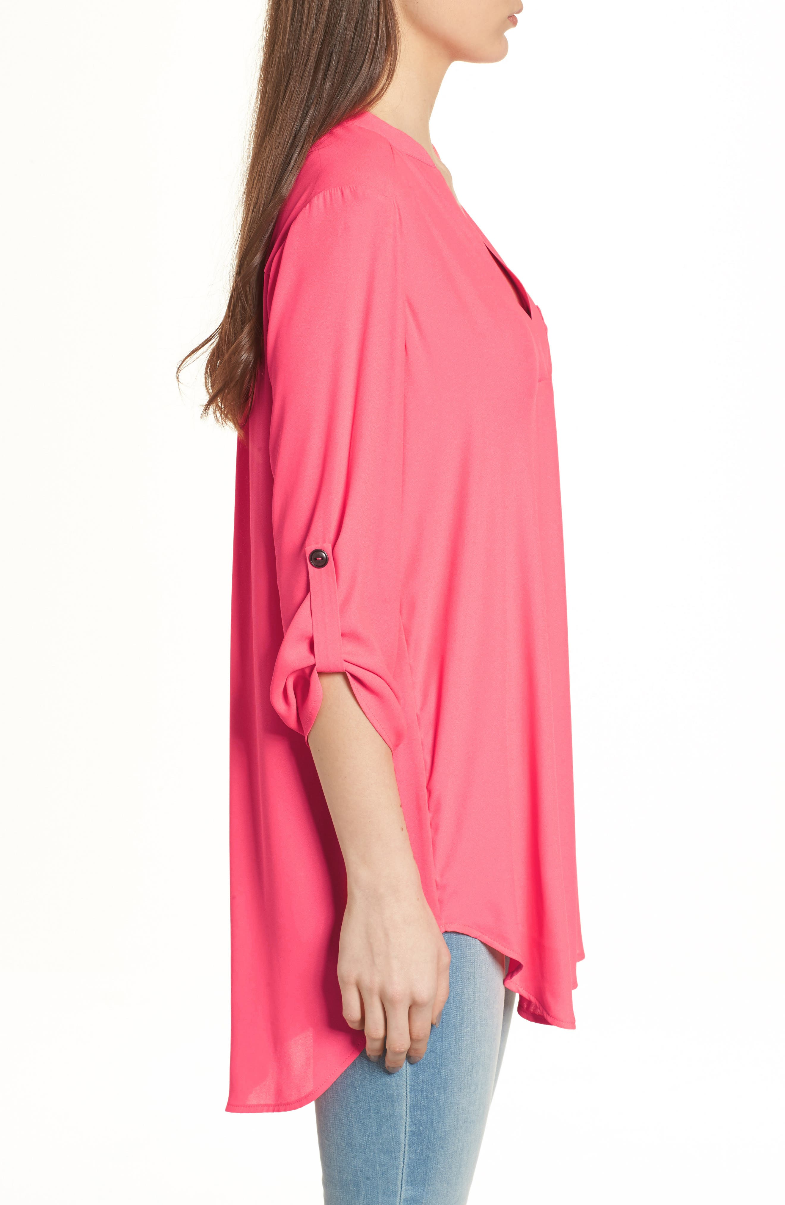 ,                             Perfect Roll Tab Sleeve Tunic,                             Alternate thumbnail 133, color,                             654