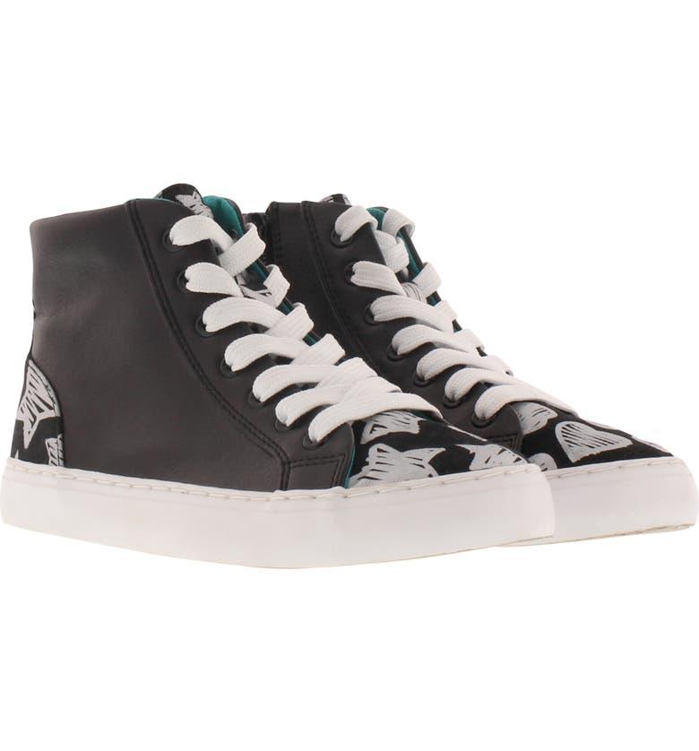 CHOOZE Uplift Superstar High Top Sneaker, Main, color, BLACK