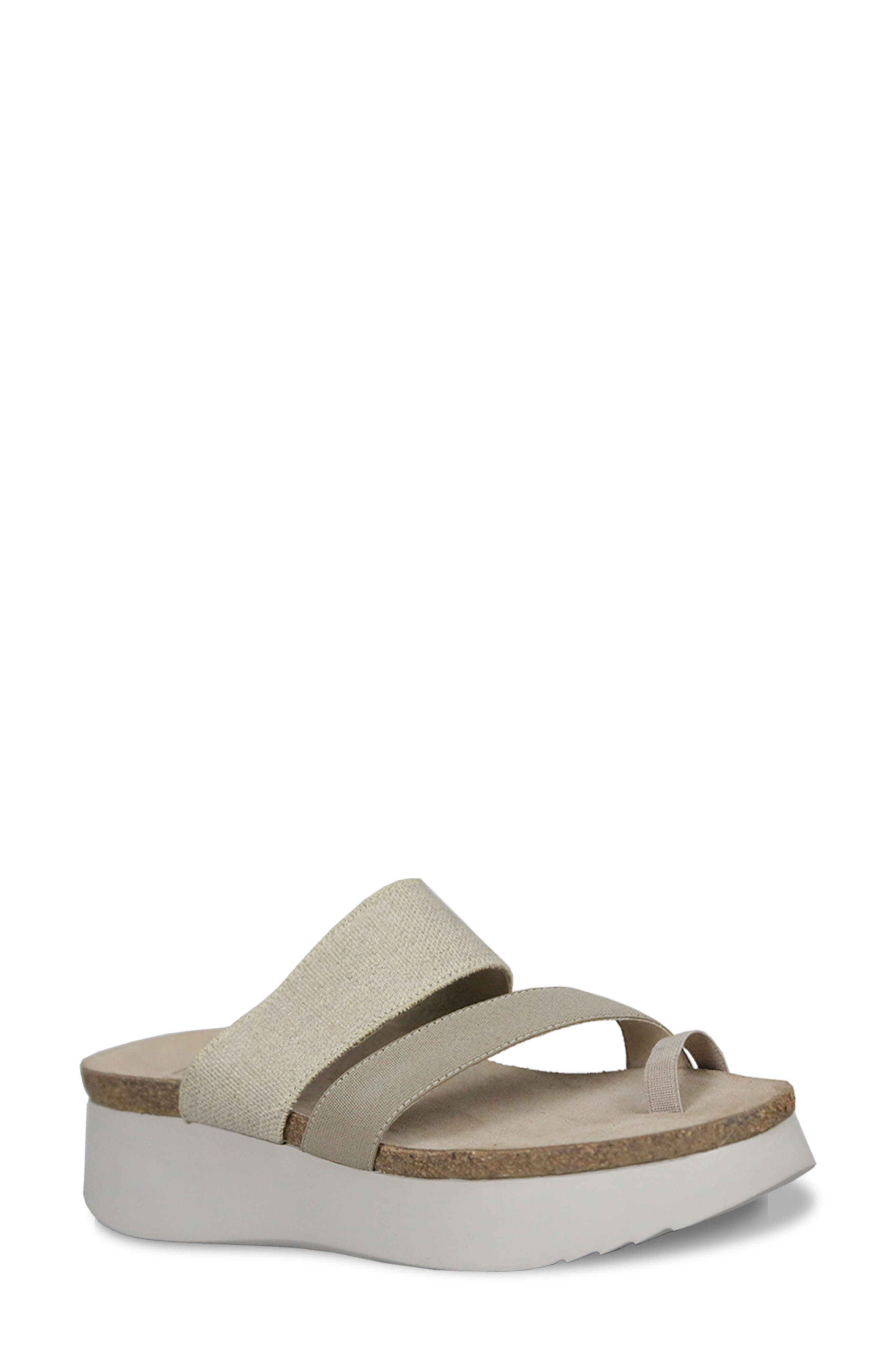Toe-loop styling enhances the modern appeal of a comfortable and stylish platform sandal. Style Name: Munro Aries Ii Platform Sandal (Women). Style Number: 6016738 1. Available in stores.