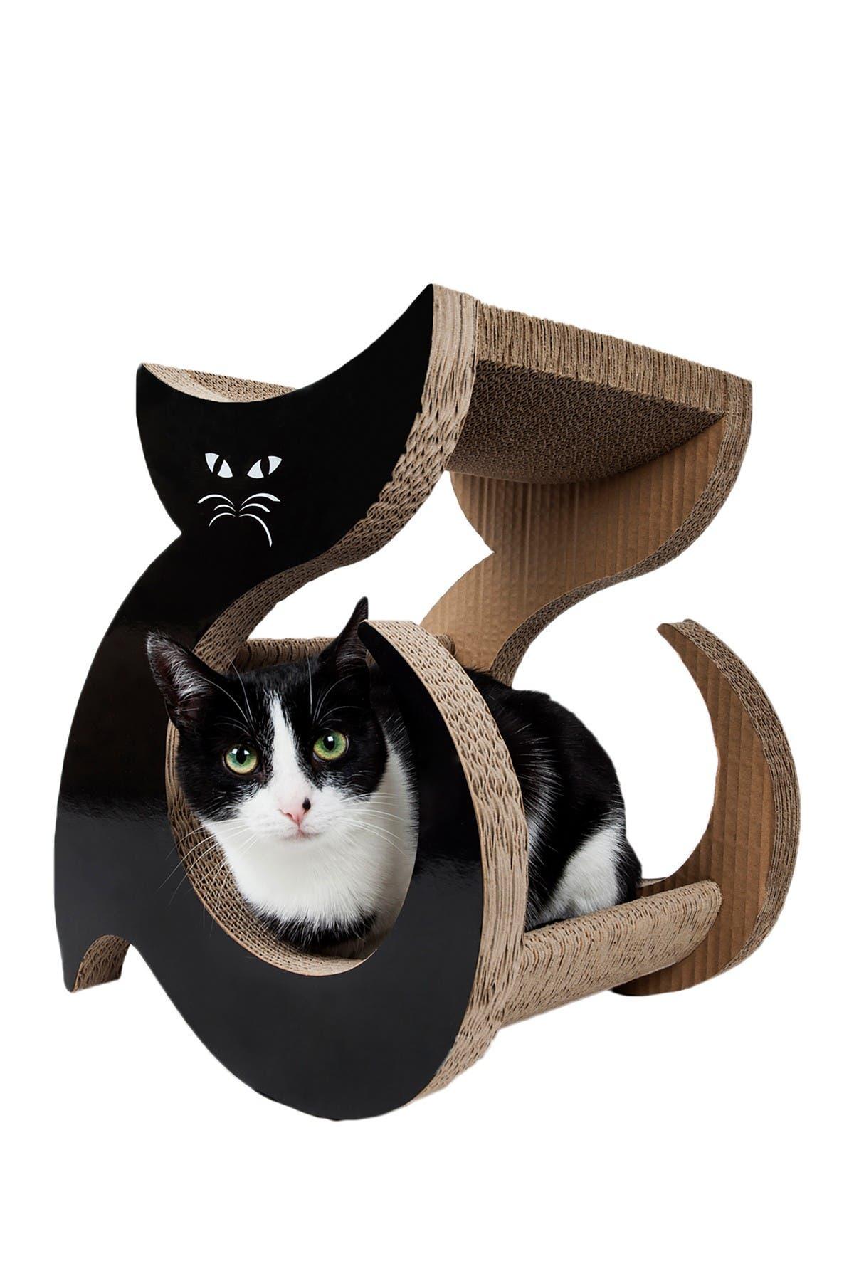 Image of PETKIT Black Purresque Ultra Premium Fashion Designer Lounger Cat Scratcher