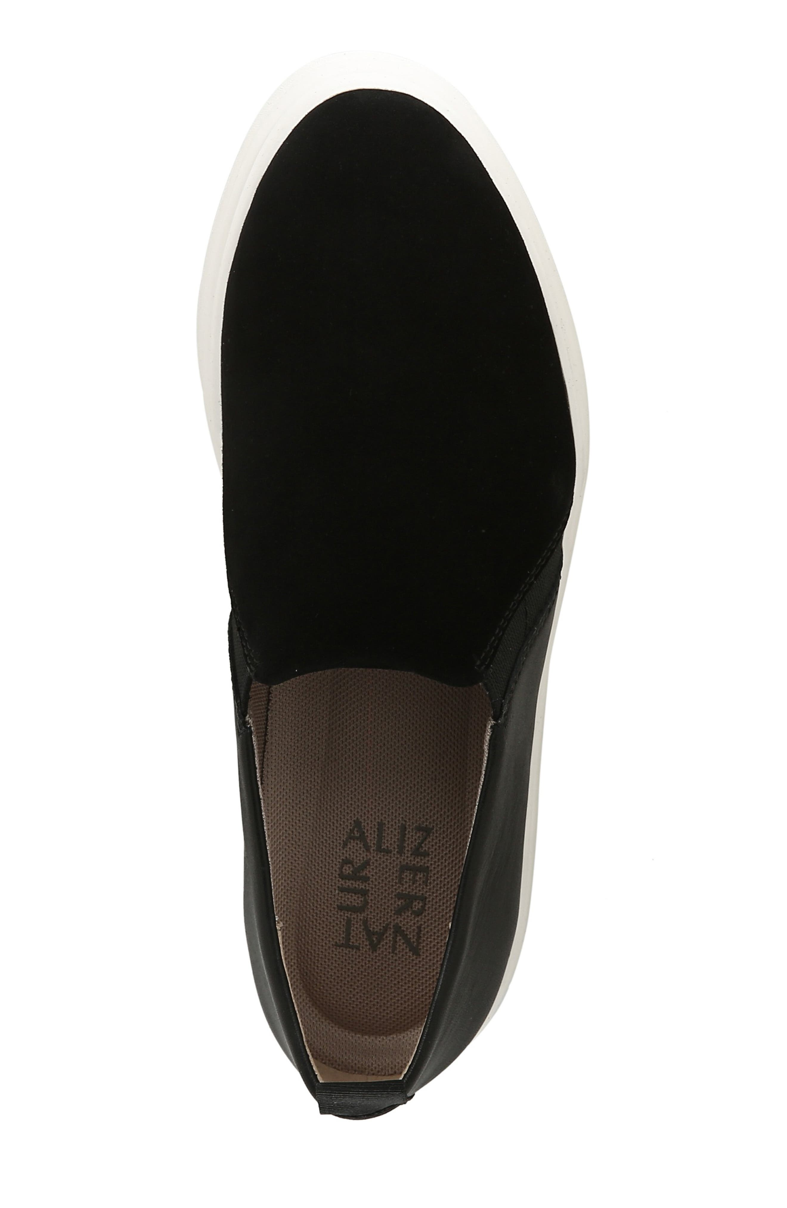 ,                             Yola Slip-On Sneaker,                             Alternate thumbnail 5, color,                             BLACK SUEDE/ LEATHER