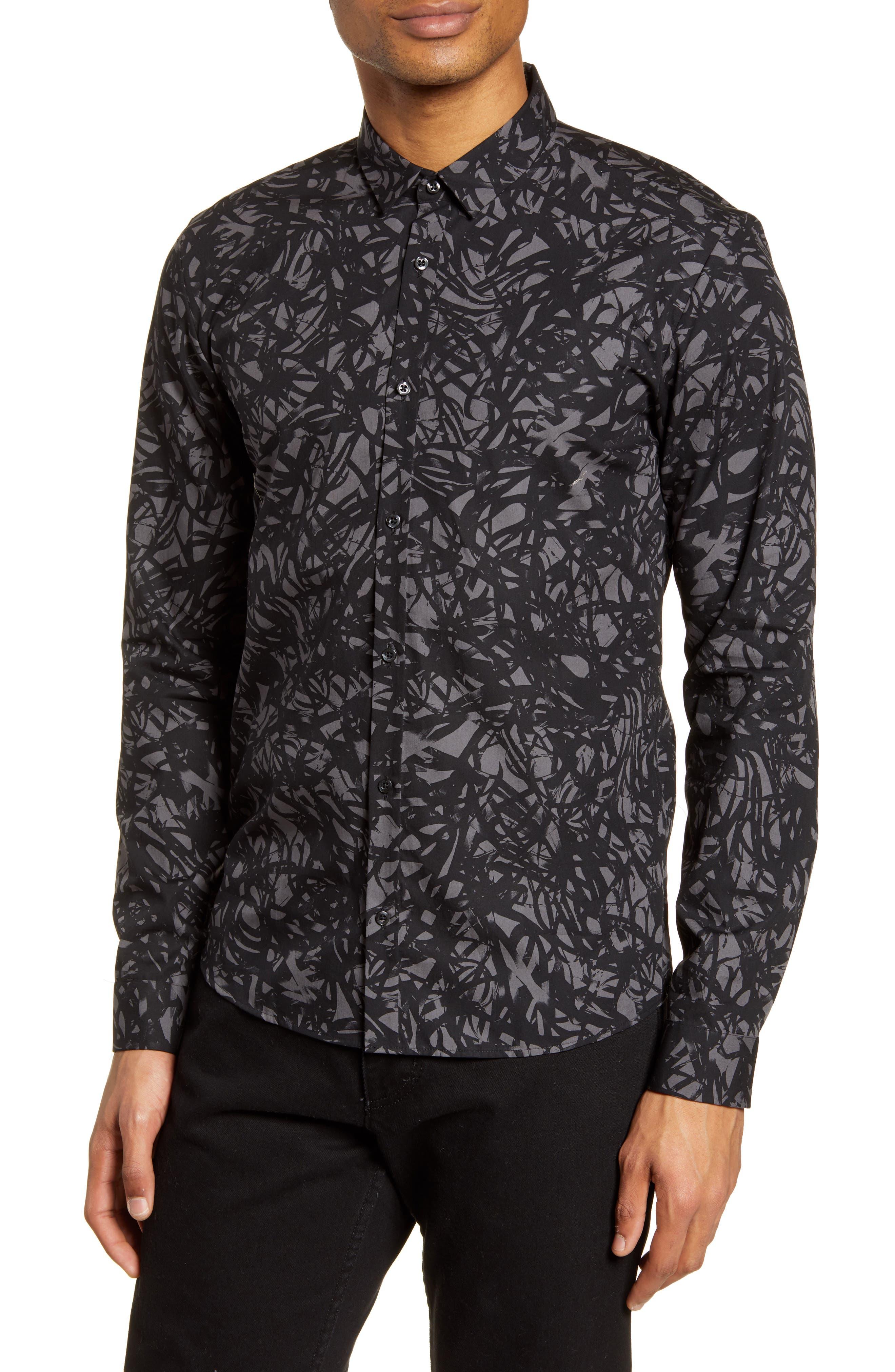 Image of HUGO Slim Fit Button-Up Shirt