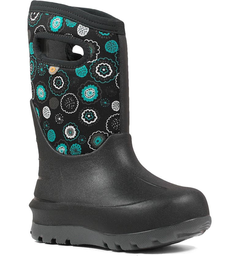 BOGS Neo Classic Bullseye Insulated Waterproof Boot, Main, color, BLACK MULTI