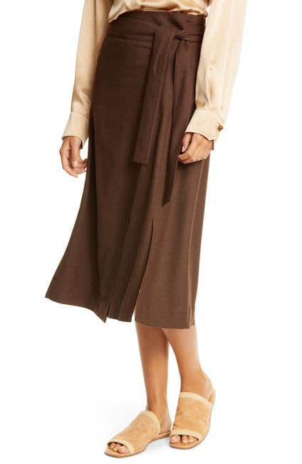 Image of Vince High Waist Belted Skirt