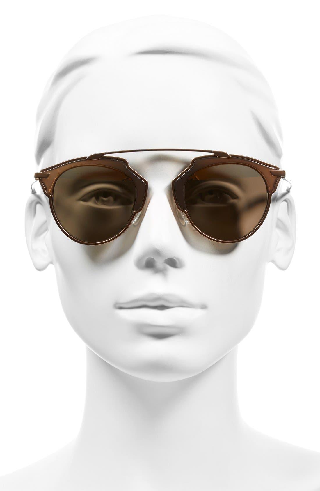 ,                             So Real 48mm Brow Bar Sunglasses,                             Alternate thumbnail 73, color,                             712