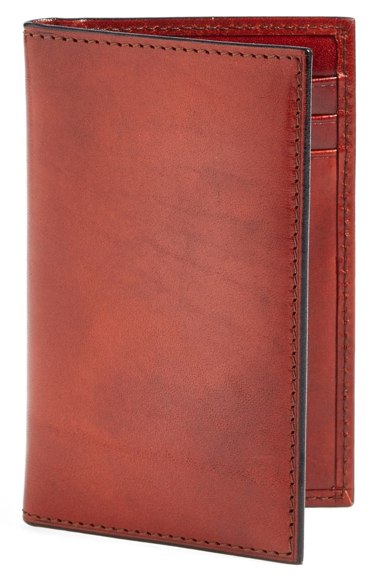 BOSCA 'Old Leather' Card Case, Main, color, COGNAC