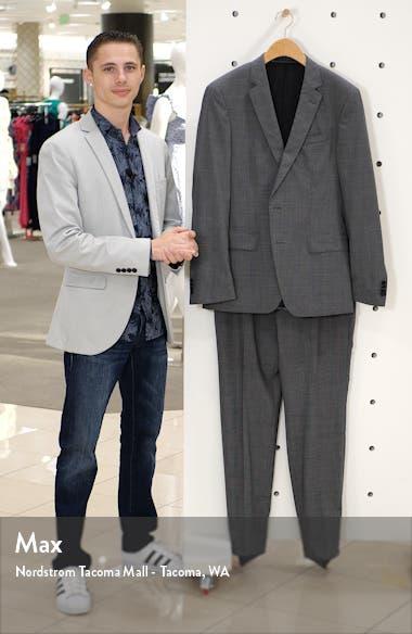 Huge/Genius Trim Fit Houndstooth Wool Suit, sales video thumbnail