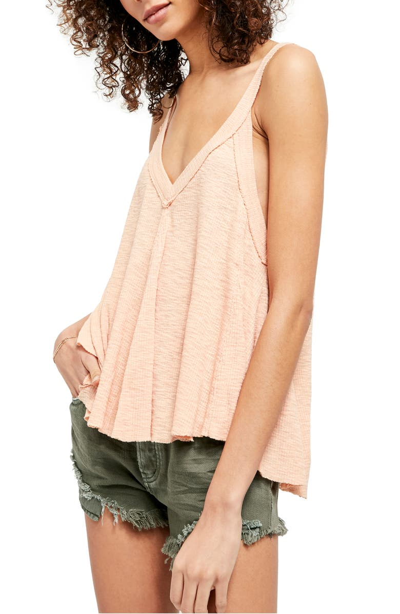 FREE PEOPLE Crush on You Tank, Main, color, DUSTED PEACH