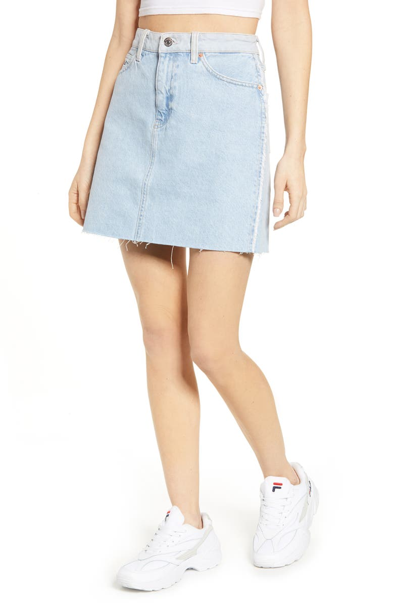 TOMMY JEANS Denim Skirt, Main, color, BRIGHT LIGHT BL RIG