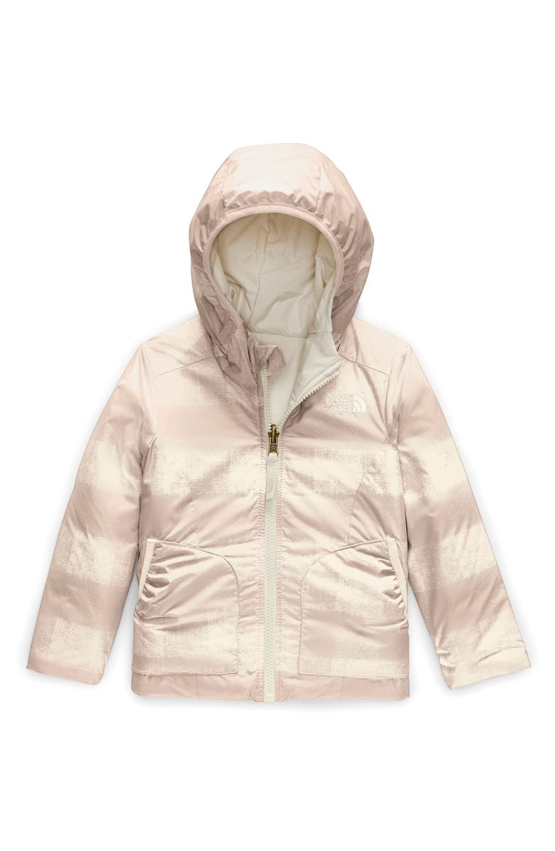 THE NORTH FACE Perrito Reversible Water Repellent Heatseaker<sup>™</sup> Insulated Jacket, Main, color, VINTAGE WHITE BUFF CHK