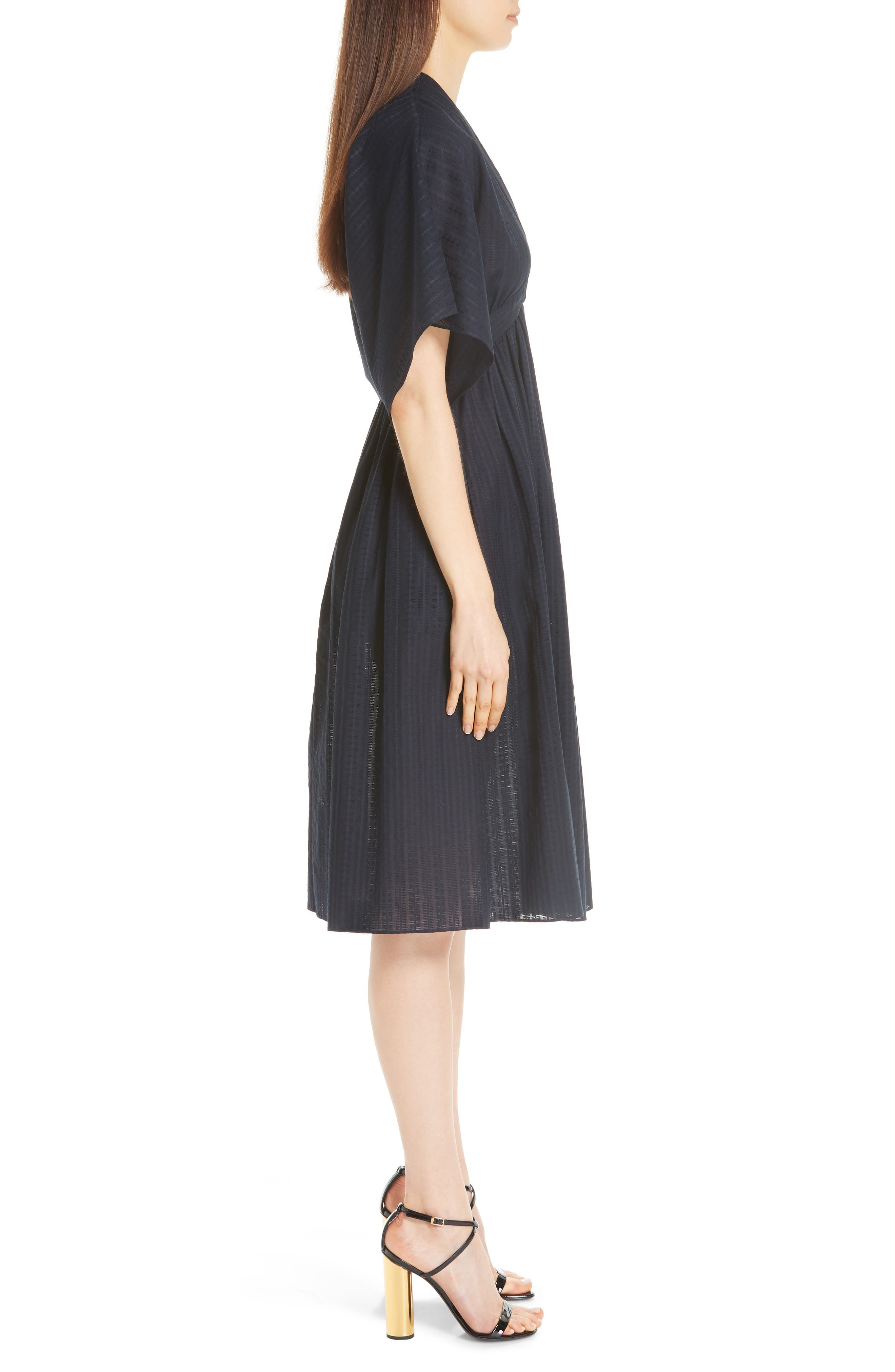 ,                             Swiss Voile Dress,                             Alternate thumbnail 3, color,                             NAVY