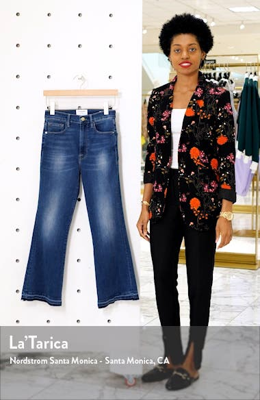 Le Crop High Waist Release Hem Flare Jeans, sales video thumbnail