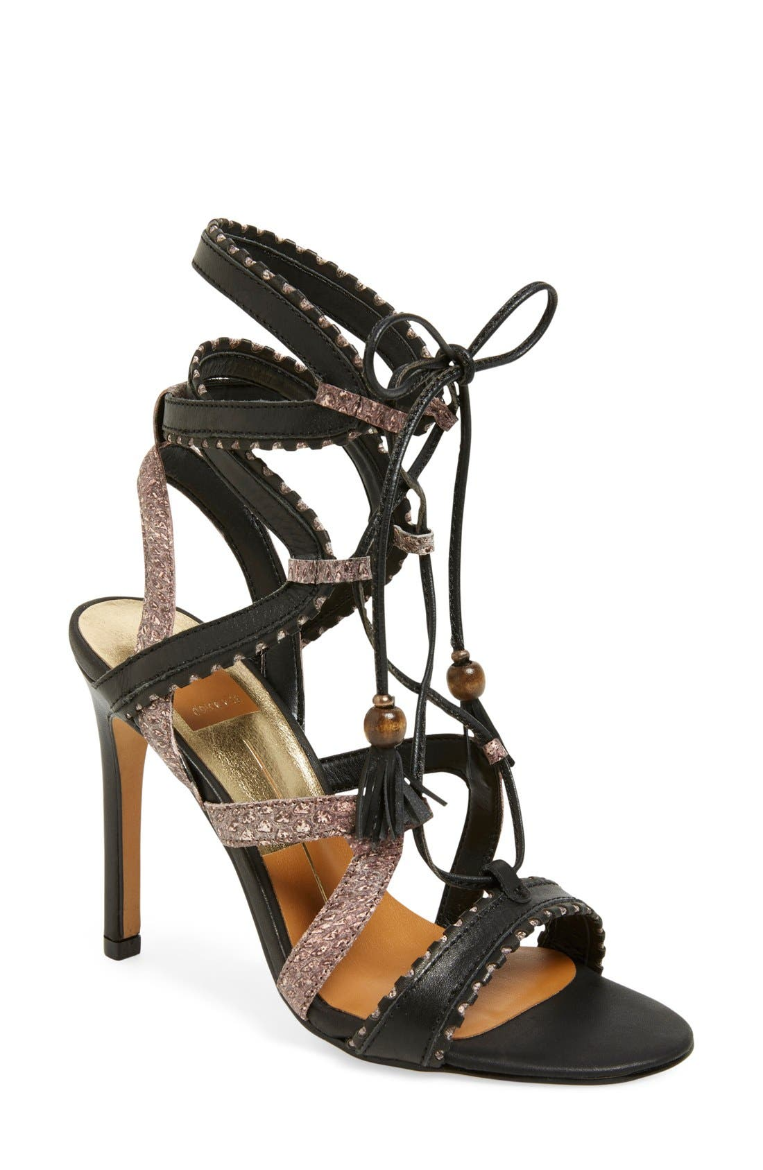 'Haven' Lace-Up Sandal, Main, color, 003